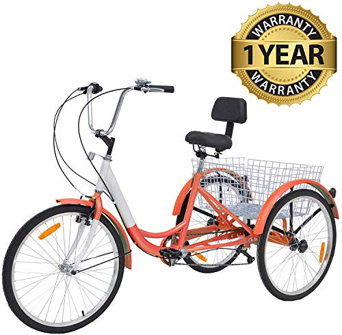 3 Wheel Bikes for Adults with Gears - Slsy Adult Tricycles 7-Speed Adult Trike