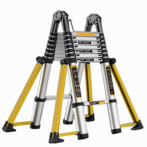HUYP Multipropósito Plegable de Aluminio Escalera Plegable Escalera Tipo A estabilizadora Barra Soporte Ingeniería Escalera fácil de Mover