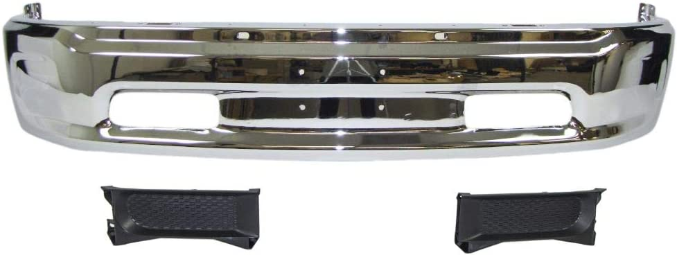 U-Autoacces Front Bumper Chrome Face Bar O Quantity limited Hole Panel Regular dealer Filler W