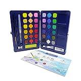 Rayline Art - Aquarell Set mit 36 Farben Pinsel Pinselstift