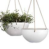 White Hanging Planter Basket - 10...