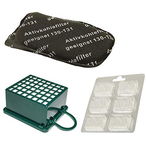 PRODUCT2SELL Juego de filtros HEPA + filtro de carbón + 6 ambientadores adecuados para Vorwerk Kobold VK130 SC, VK130, VK131, VK 130, 131
