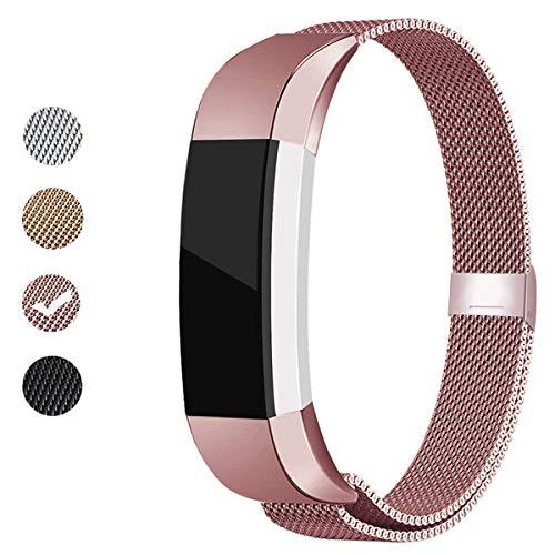 BeYself Kompatibel für Fitbit Alta HR/Alta Armband, Metall Edelstahl Ersatzarmband für Fitbit Alta/Alta HR, Damen Herren klein Groß