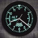 Cyalla Altimetro Neon Sign LED Orologio da Parete Altitudine Meter Tracking Pilot Air Plane Altitudine Misura Moderno Orologio da Parete Orologio Gag Regalo da 10 Pollici