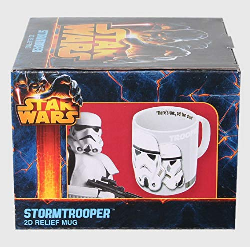 Joy Toy Storm Trooper Tazza con Dettagli in Rilievo, Ceramica, Multicolore, 13.00x13.00x9.50 cm