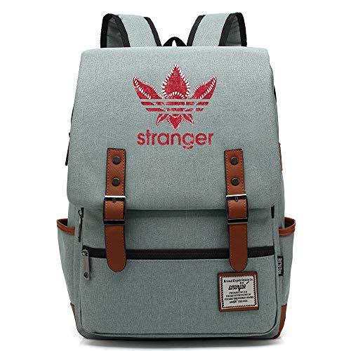 Zaino da viaggio universitario per adolescenti, borsa da scuola di Stranger Things, adatto a tablet per laptop da 15', borsa weekend per ragazzi/ragazze da 16 pollici. Colore-17.
