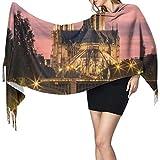 Splendida vista Notre Dame De Paris Sciarpa grande per donna Sciarpa in cashmere invernale Scialli e impacchi donna Pashmina morbida morbida Extra caldo