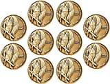 """ARCHANGEL SAINT MICHAEL CHALLENGE COIN BULK PACK OF 10: 1.75"""" diameter, Antique Gold Plated Challenge Coin. These high quality, antique gold plated challenge coins are an excellent token to carry in your pocket as a reminder that our strength comes f..."""