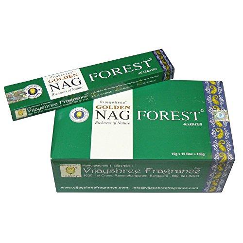 Bastoncini d'incenso 180g Golden Nag Forest Profumo foresta atmosfera aromatica