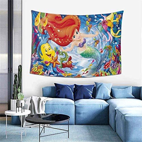 Tapiz de la Sirenita para colgar en la pared, decoración para el apartamento, hogar, arte, tapices de pared para el hogar, tapices decorativos para el arte del dormitorio