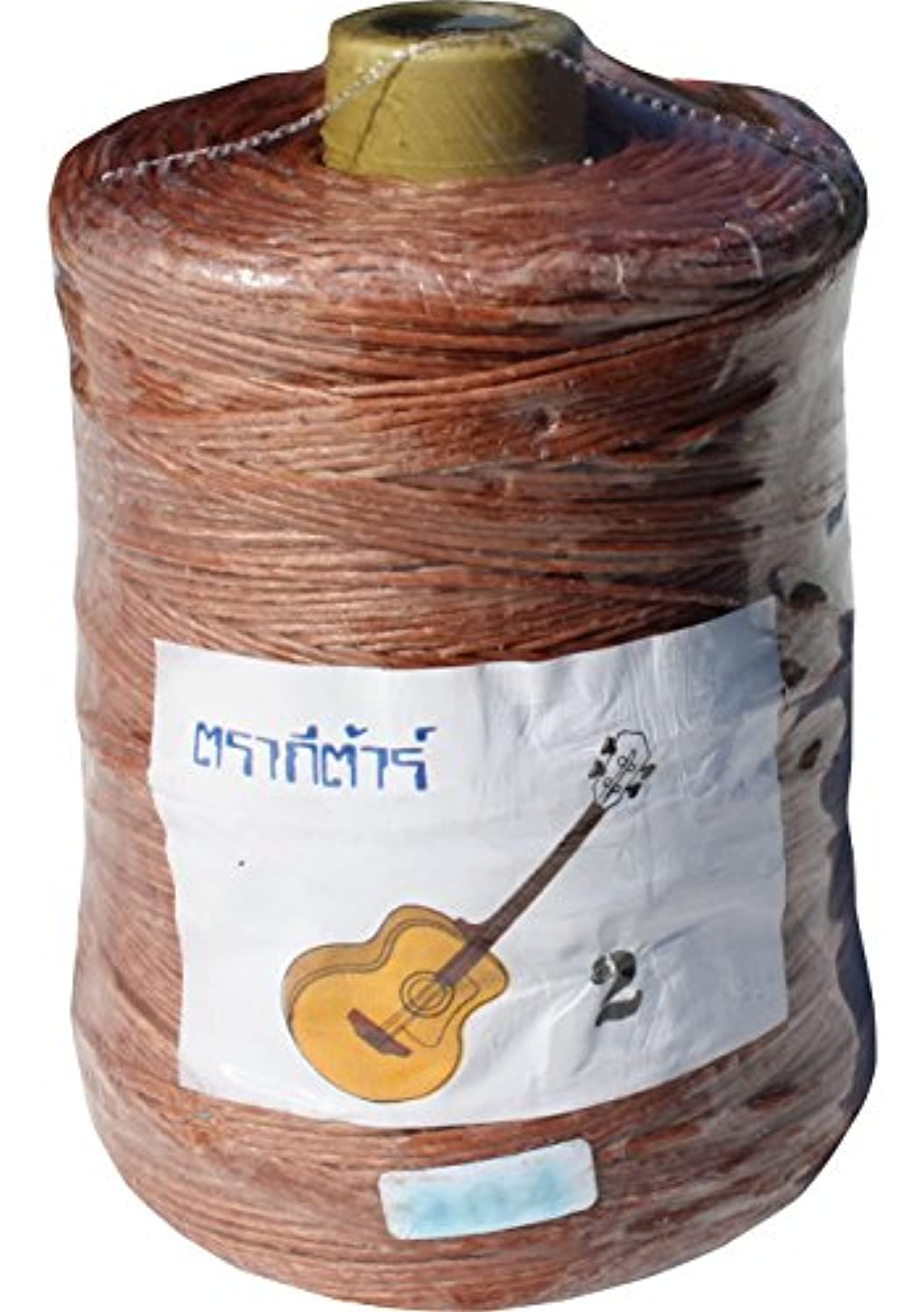 Full Funk Roll of Waxed String for Crafts Bracelets Necklaces Beadwork 450Gms, Light Brown