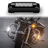 XKGLOW XK034014-B Black Motorcycle Highway Bar Switchback Driving Light (for Crash Bars Harley Davidson Touring Bikes)