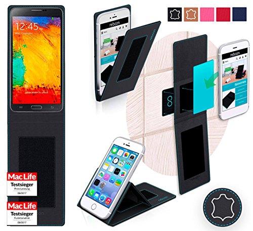 Hülle für Samsung Galaxy Note 3 Neo LTE Plus Tasche Cover Hülle Bumper | Schwarz Leder | Testsieger