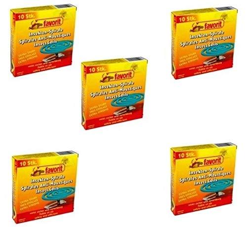 5 Packungen ingesamt 50 Anti Mücken Spiralen Mückenabwehr, extra stark