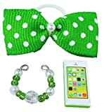 happyblockbuilder Compatible with Littlest Pet Shop Accessories LPS Bow Collar Phone Random Gift Bag Lots Craft Sets; Pets NOT Included (Green)