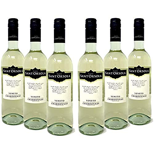 Sant'Orsola Chardonnay Veneto I.G.T. Weißwein 6 Flaschen Chardonnay NV trocken (6 x 0.75 l)
