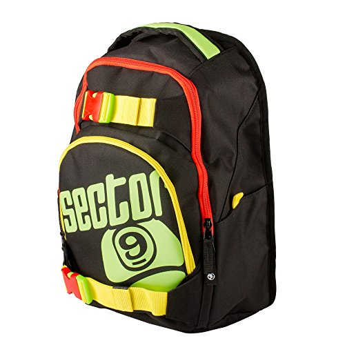 Sector 9 Pursuit Longboard Skateboard Backpack Rasta Travel Bag New On Sale