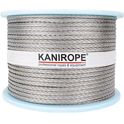 Kanirope® Dyneema Seil PRO 3mm 100m Silber 12-fach geflochten SK78 verstreckt beschichtet