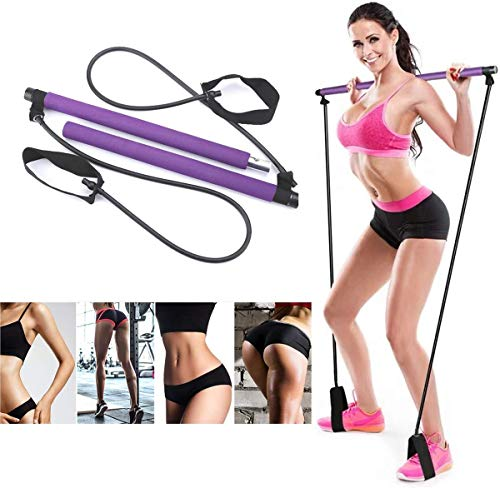 COOLGIRL Fascia di Resistenza, Fascia con Maniglie, - Kit per barra resistenza per palestra resistenza al centro fitness - Ideale per l'allenamento totale corpo a casa, palestra, sollevamento pesi