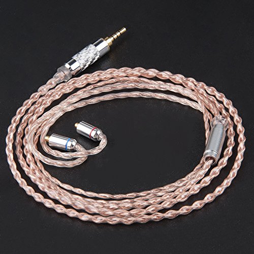 GXX4710 イヤホン ケーブル バランスケーブル 2.5mm mmcx 4芯7n無酸素銅ケーブル 2.5mm 4極 ケーブル mmcx ケーブル Yinyoo (MMCX(2.5mmプラグ))
