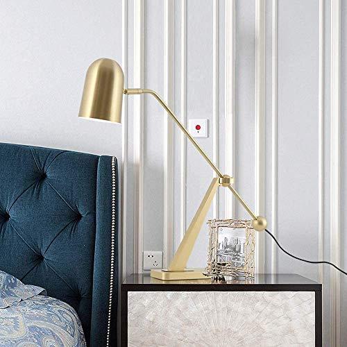 YANQING duurzame Scandinavische minimalistische ontwerp metalen bureau lamp persoonlijkheid club model kamer woonkamer studie slaapkamer lamp 26x50cm metaal oplichten leven