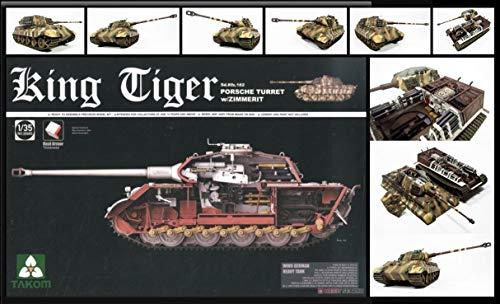 TAKOM Tak de 2046–Maqueta de WWII German Heavy Tank Vehículo Especial 182King