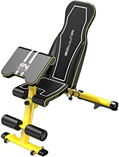 FQCD Dumbbell Bench, Foldable Shaping, Weight Loss, Corrective Back, Pilates Massage, Fitness and Exercise, Male Abdominal...