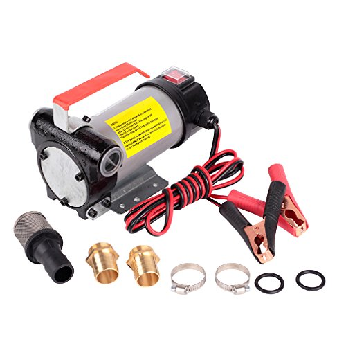 Trupow 12V DC 10GPM Electric Self-priming Diesel Kerosene Oil Fuel Transfer Extractor Pump