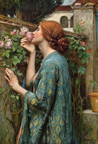 A Alma da Rosa (1908) de John W. Waterhouse - 30x44 - Tela Canvas Para Quadro