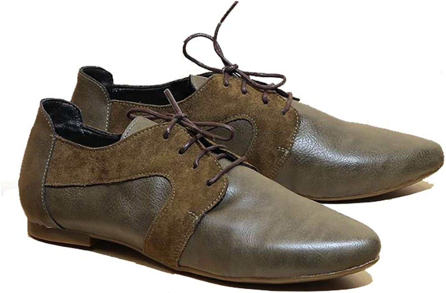 B-Unique Flat Oxfords for Women - Andora - Casual Womens Lace-up, Soft Eco-Leather Dress shoes