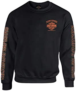 Men's Eagle Piston Fleece Pullover Sweatshirt, Black...
