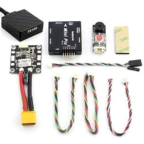 Radiolink Mini PIX F4 Flight Controller M8N GPS Voltage Module 915mHz Telemetry Buzzer LED (Mini PIX with GPS)