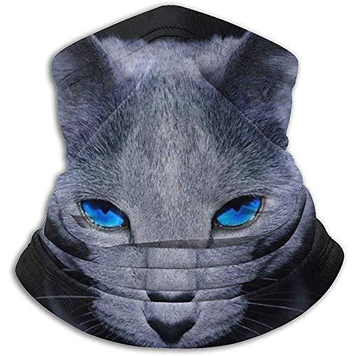 Linger In Blue Eyes Cat Neck Gaiter Face Mask Bandana Seamless Headband Ski Riding Running