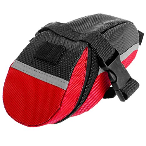 niumanery Bicycle Bike Waterproof Saddle Bag Tail Rear Cycling Seat Pouch Storage Outdoor Red