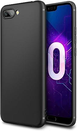 EasyAcc Huawei Honor 10 Custodia in TPU Nero Opaco, Morbido TPU Custodia Cover Slim Anti Scivolo Custodia Protezione Posteriore Cover Antiurto per Huawei Honor 10 - (14,83 cm (5,84 Pollici)