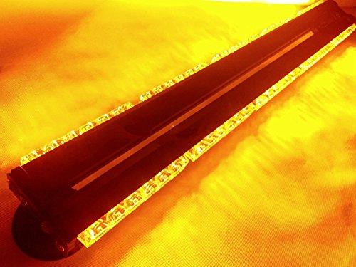 Double Face 180 W LED travail Barre lumineuse Alarme Balise d'avertissement stroboscope Ambre Alarmer 76,2 cm 12/24 V