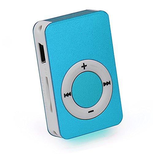 OSYARD MP3 Player,Musik Player,Tragbarer USB Digital Mini MP3-Player Unterstützt 32 GB Micro SD/TF-Karte,Aluminium Kartenleser Touch-Taste Verlustfreie Sound Musik Player