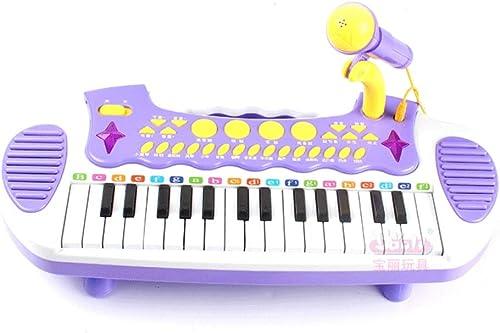 LIPENG-TOY Kinder elektronisches Klavier Baby Früherziehung Musik Klavier mit Mikrofon Aufkl ng Spielzeug Klavier 3-6 Jahre alt (Farbe   lila)