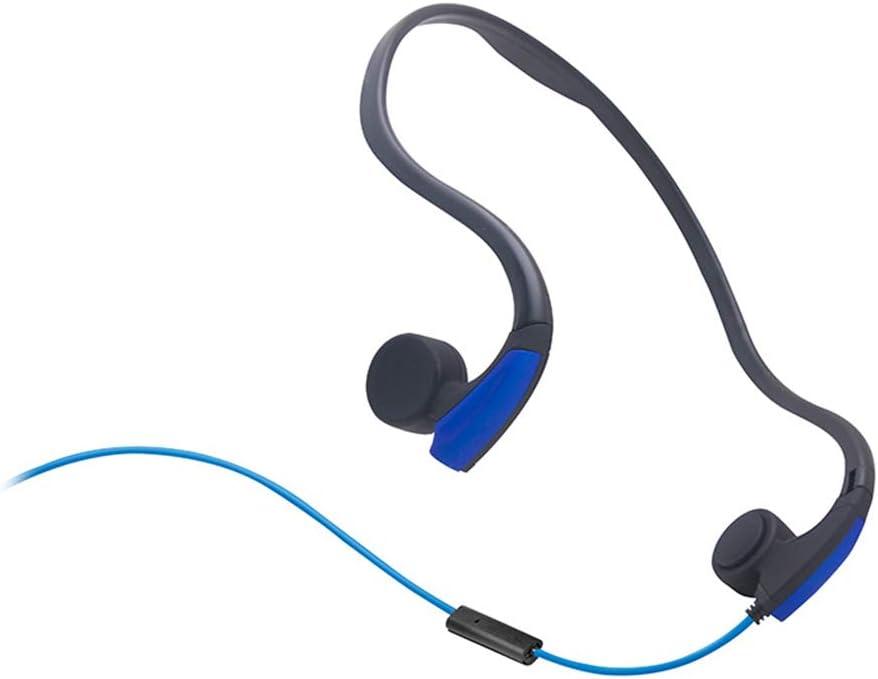 LBYSK Knochenleitung Verdrahtet Sport Open Headset Binural Stereo-Headset,Schwarz Outdoor Sports Headset Kopfh/örer Mit Ger/äuschreduzierung
