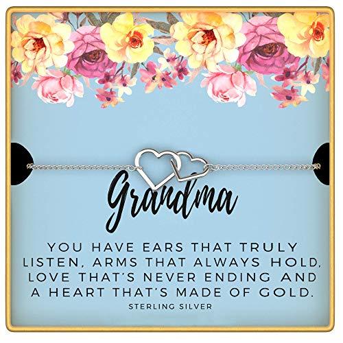 KEDRIAN Grandma Bracelet, 925 Sterling Silver, Best Grandma Gifts For Women, Gifts For Grandma, New Grandma Gifts, Gift For Grandma, Grandma Birthday Gift Bracelet, Mother's Day Gifts For Nana
