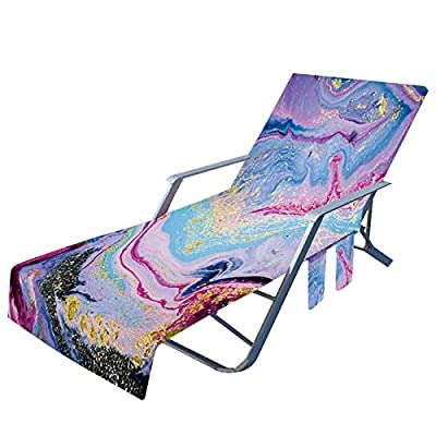 Amazon - Save 80%: Beach Chair Cover with Side Pockets, Microfiber Lounge Chair Towel Rack (B)