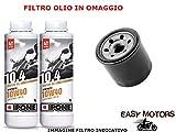 Desconocido Kit DE Mantenimiento DE Motor DE Aceite 10W40 IPONE + Filtro Olio ADLY Hurricane Quad 300 08/09