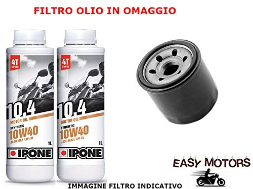 Desconocido Kit DE Mantenimiento DE Motor DE Aceite 10W40 IPONE + Filtro Olio Yamaha YFM Bear Tracker 250 99/04