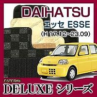【DELUXEシリーズ】DAIHATSU ダイハツ エッセ Esse 4WD フロアマット カーマット 自動車マット カーペット 車マット(H17.12~23.09、L245S) エデングレー ab-da-esse-17l245s4wd-delegr