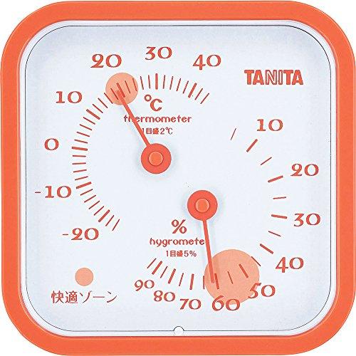 タニタ 温湿度計 温度 湿度 アナログ 壁掛け 卓上 マグネット オレンジ TT-557 OR