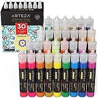 Set of 30 Arteza 3D Fabric Metallic & Glitter Paint