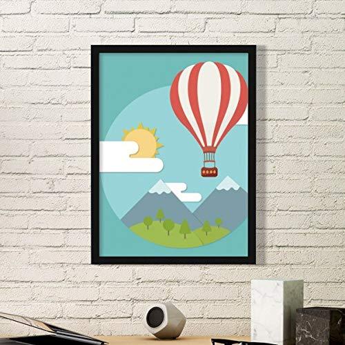 DIYthinker hete lucht ballon zon wolk patroon eenvoudige foto frame kunst drukt schilderijen thuis muursticker cadeau