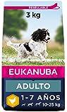Eukanuba Alimento seco para perros adultos activos de raza mediana,, rico...