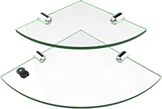 Estante de esquina acrílico, 2 estantes, 150 mm y 200 mm