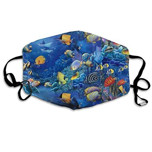 Mundschutz für Unterwasser, Meereswelt, Ozean, Staubschutz, winddicht